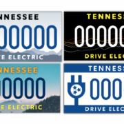 Drive Electric Tennessee license plate design options